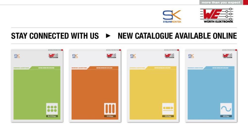 Würth Elektronik Stelvio Kontek New Catalogs 2015